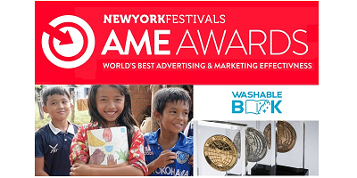 石けんで洗って学ぶ絵本「Washable Book」が World's Best Advertising & Marketing Effectiveness 3部門で金賞を受賞