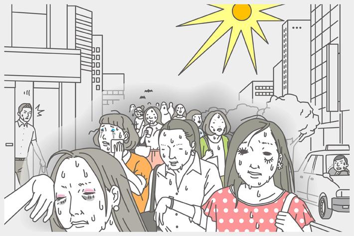 """酷暑決定の2016年夏。 """"顔溶け""""を回避して美人印象をキープせよ!"""